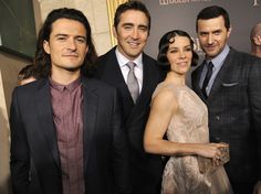 #LeePace, Orlando Bloom, Evangeline Lilly, and #RichardArmitage at The Hobbit: The Battle of the Five Armies premiere in Los Angeles, Dec. 9, 2014.