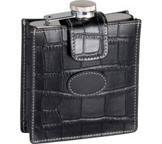Royce Leather Croco 5 oz Flask 949-5 - Brought to you by Avarsha.com