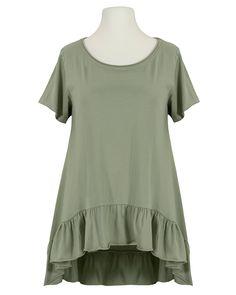 Damen Shirt A-Linie, khaki von Monday Afternoon   meinkleidchen Damenmode aus Italien Shirts & Tops, Short Sleeve Dresses, Dresses With Sleeves, Tunic Tops, Women, Fashion, Simple Lines, Italy, Fashion Women
