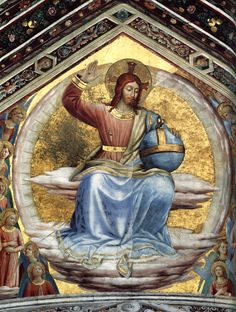"cavetocanvas: ""Fra Angelico, Christ in Majesty, St. Brizio Chapel,1447 """