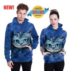 35% OFF - 3D All-Over- Print Cheshire Cat Hoodie