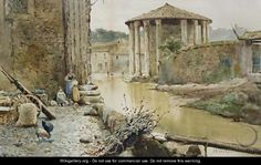 The Temple Of Hercules  - Ettore Roesler Franz