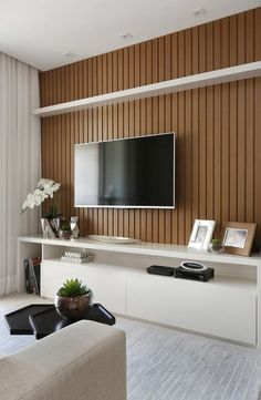Best Home Theater Planejado Sala Ripado Ideas Best Home Theater Plan Room Repair Ideas Tv Unit Design, Tv Wall Design, Modern Apartment Design, Home Interior Design, New Living Room, Living Room Furniture, Tv Wanddekor, Modern Tv Wall Units, Sala Grande