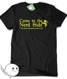 Funny Nerd T-Shirt Dragon Shirt Humor Womens Mens Gift Ideas for Boyfriend Girlfriend Present Geek Nerdy Geekery Scientist Gamer Game RPG