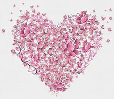 Heart of Butterflies Cross Stitch Pattern