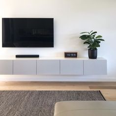 Living Room Tv Unit, Living Room Decor Cozy, Home Living Room, Living Room Designs, Tv Wall Ideas Living Room, Wall Cabinets Living Room, Family Room, House Design, Interior Design