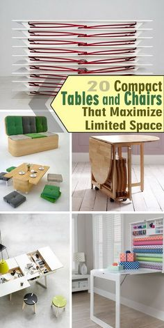 Compact Tables And Chairs That Maximize Limited E Tiny House Furniture For Small