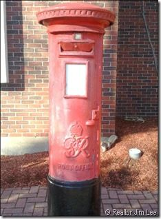 Old mailbox in front of the Portsmouth NH main Post Office downtown.