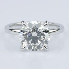 Classic Platinum Solitaire Engagement Ring (2.30 ct.)