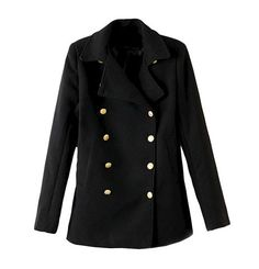 COAT WITH METALLIC BUTTON