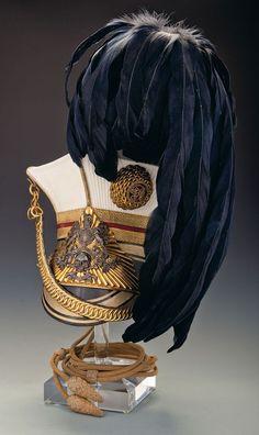 Victorian era or The Duke of Cambridge's Lancers Officer's Czapka. British Army Uniform, British Uniforms, Men In Uniform, Military Chic, Military Fashion, Napoleon, Military Costumes, Military Uniforms, Arm Armor