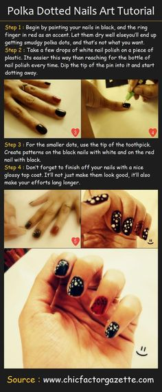 Polka Dotted Nails Art Tutorial