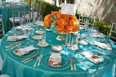 Clique aqui para ver as fotos mais lindas na inspiração de casamento laranja e turquesa que o Casar é um Barato separou para vocês.