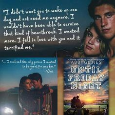 Until Friday Night (The Field Party #1) By Abbi Glines is COMING AUGUST 25, 2015. Pre-order is available now: Amazon Pre-Order: http://amzn.to/1ESjmuU