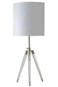"Hadrian Acrylic Tripod Leg 39"" Table Lamp"