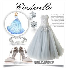 """Cinderella Story"" by katerina-kapnia on Polyvore featuring Marchesa, Manolo Blahnik, romantic, cinderella and gown"