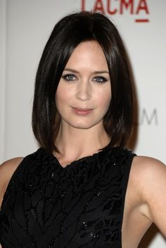 Emily Blunt hair cut and color.