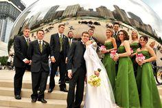 Chicago wedding photo - The Bean at Millennium Park