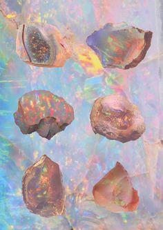 opal study print #iridescent