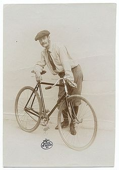 Citation: Lyonel Feininger standing with a bicycle, ca. 1890 / unidentified photographer. Alfred Vance Churchill papers regarding Lyonel Feininger, Archives of American Art, Smithsonian Institution.