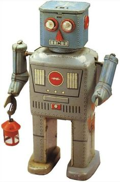Robot with Lantern Tin Toy | Vintage and Retro Space Age Raygun, Rocket and Robot Toys | Sugary.Sweet