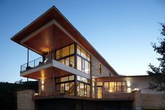 modern lake house plans | Two story contemporary home, modern house design