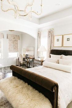Master Bedroom Before & After with Corbett Lighting   Chronicles of Frivolity