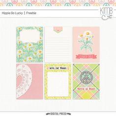 Quality DigiScrap Freebies: Hippie Go Lucky journal card freebie from Kim B Designs