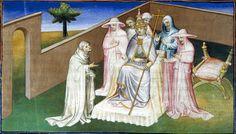 Hayton of Corycus and Pope Clement V. Fleur des histoires d'orient.Гетум Патмич (Гайтон) и папа Климент V. Fleur des histoires d'orient (Вертоград историй стран Востока).1410–1412