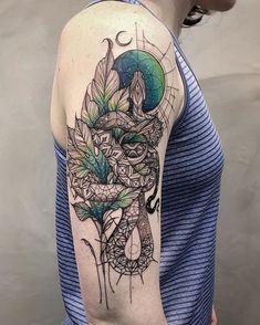 Lucas Lua de Souza via ink-pedia Creative Tattoos, Great Tattoos, Sexy Tattoos, Unique Tattoos, Beautiful Tattoos, Body Art Tattoos, Tattoo Drawings, Tattos, Diy Tattoo