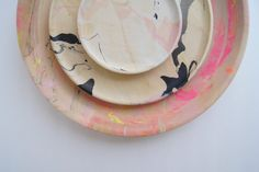 Funding on Etsy: Wooden Plates + Modern Marbling = New Products #fundonetsy