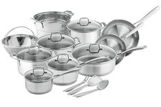 Chef's Star Professional Grade Stainless Steel 17 Piece Pot and Pan Set - Induction Ready Cookware Set with Impact-bonded Technology * You can get additional details at the image link.