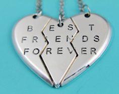 set of 3 Best Friends keychain Best by HandStampedJewelry55