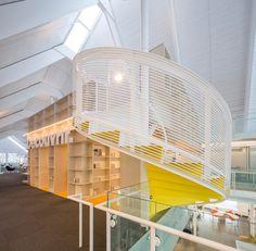 Monique Corriveau Library by Dan Hanganu   CLC Architects in Québec