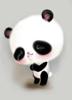动物 萌物 插画 壁纸 熊猫