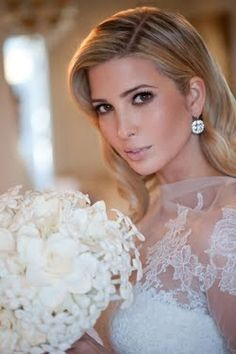Love Ivanka Trump's look. This how every bride deserves to look. So classy and beautiful!