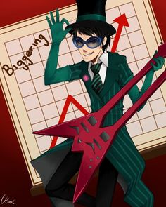 Once ler as Greed ler and his rock and roll guitar The Lorax, Fanart, Edd, Rock And Roll, Joker, Anime, Movies, Fictional Characters, Singers