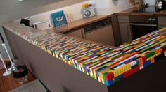 Kitchen bar top with legoss!!!