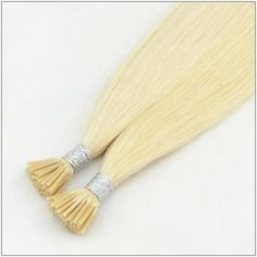 100s Straight Stick/I Tip Human Hair Extensions #60 White Blonde #sitcktiphair #fusionhairextension #whiteblonde Pre Bonded Hair Extensions, Fusion Hair Extensions, Human Hair Extensions, White Blonde, Qingdao, Remy Human Hair, Hair Extensions