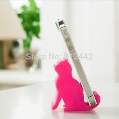 6cm Kawaii Cute Animal Pink Cat Toy Mobile Phone Holder Stand Accessories Birthday Gift For Girlfriend Home Desk Decor Novelty
