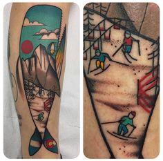 Ylenia Manzoni Vinil whale tattoo