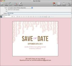 Email Save the Date