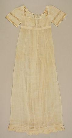 Dress (image 1) | American | 1810 | cotton | Metropolitan Museum of Art | Accession #:  11.60.233