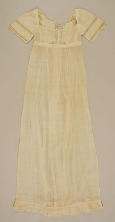 c.1810 Dress, cotton