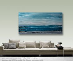 """XXL, 60""""x30"""", Abstract Painting, Acrylic Painting, Seascape Painting, Original Painting, Wall Decor, Wall Art, Painting, Art, Large painting"""