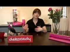 RÓŻE W RURZE dekoracja stołu weselnego - YouTube