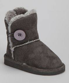 Take a look at this Gray Faux Fur Betty Boot on zulily today!