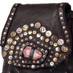 Campomaggi | Leather handbags for women with semi precious stone  http://www.pierotucci.com/bags/caterina_lucchi/