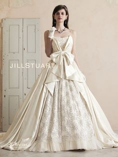 dball : 画像 White Wedding Gowns, Wedding Dresses With Flowers, Colored Wedding Dresses, Bridal Dresses, Bridesmaid Dresses, Scarf Dress, Dress Brands, Beautiful Outfits, Designer Dresses