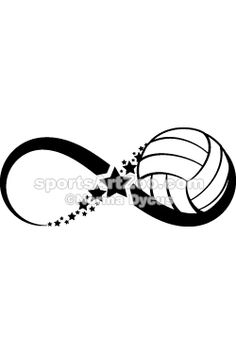 Volleyball Infinity by SportsArtZoo.  If you want to use this design please pay for it. It is not expensive. #volleyball #sportsartzoo